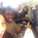 Olaf and Joiwyn on Airplane