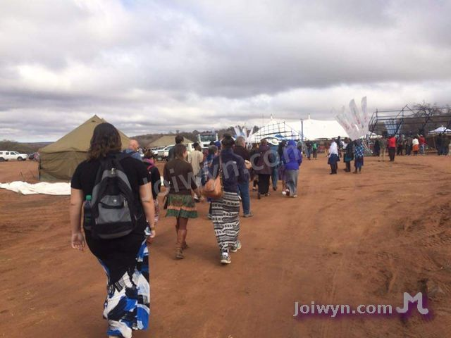 People entering the festival grounds