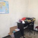 Desk in corner